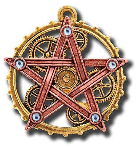 Anne Stokes Penta Meridia Steampunk Pentagramm Zahnräder Anhänger (Zahnrad Steampunk Halskette)