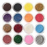 TOBbeauty 16 Mischfarben-Augen-Schatten-Verfassungs-Pigment-Funkeln-Puder-Mineralspangle-Augenschminke-Verfassungs-hellt gelegentliche Farbe Maquiagem