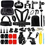 Action Pro 43-in-1 Action Camera Accessories Bundle Kit For Gopro Hero 6 5 4 Black Session Accessory Bundle Kit For Gopro Action Camera With Chest Strap Mounts