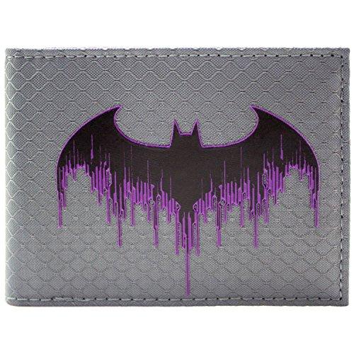 DC Batman Arkham Knight texturiertes Logo Schwarz Portemonnaie Geldbörse