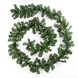 Cosanter - Guirnalda verde de abeto artificial - Guirnalda de Navidad/imitación abeto - Longitud 270cm, ancho 25cm