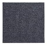 andiamo Teppichfliesen selbstklebend Teppichboden Bodenbelag selbstliegend, Farbe:Anthrazit, Größe:1 m²