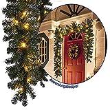 Tolle Tannengirlande Weihnachtsbeleuchtung Girlande Lichterkette 270 cm beleuchtet 40 LED Weihnachten außen