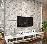 H&M Tapete modernen Stil 3D einfach PVC Nachahmung Marmor Tapete Dekoration Wohnzimmer Restaurant TV Wand Schlafzimmer Kaffeehaus Kleidung Lager Tapete (53 cm (W) × 10 m (L)) , gray