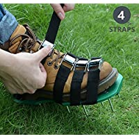 GKANGU Jardín Aerador Zapatos Jardín Spiked Sandalias 【Upgraded 4 Correas】
