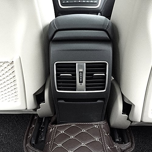 Preisvergleich Produktbild Für MB A / B / GLA / CLA Klasse C117 Faltenband zum W176 AMG car-styling ABS Chrom Hinten Zeile Klimaanlage Vent Trim Zubehör