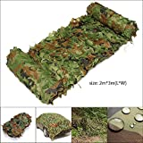 2M x 3M Woodenland Camouflage Net, Camo Netting Car Truck Sun Shield For Camping Military Hunting Shooting Fishing Hide Army Multicolor Suns Shade Nets