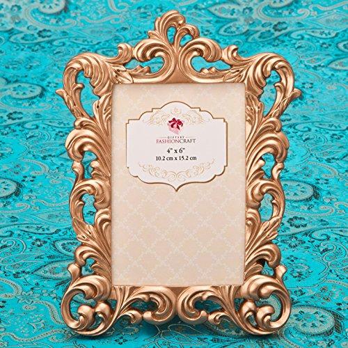 FASHIONCRAFT 4'x 6' magnífico Rose Oro Barroco Marco