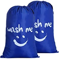 Amazon Brand – Eono 2 Stück Paniers à Linge, Pliable Sac à Linge, Pliage Grande Capacité Corbeilles à Linge (Bleu Saphir…