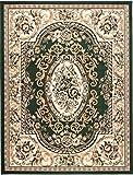 Teppich Klassisch Gemustert Orient Ornamente Königlich Muster in Grün (70x130 cm)