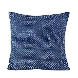 Yistu Pillow Case ,Luxury Creative Soft Sofa Bed Home Decor Pillow Case (45cm*45cm, Blue)