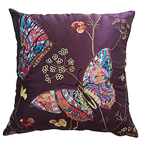 Embroidered Butterfly Cushion Covers Decorative PillowCase18