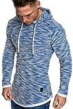 Amaci&Sons Herren 2in1 Kapuzenpullover Hoodie Sweater Pullover Sweatshirt 4013 Royalblau L