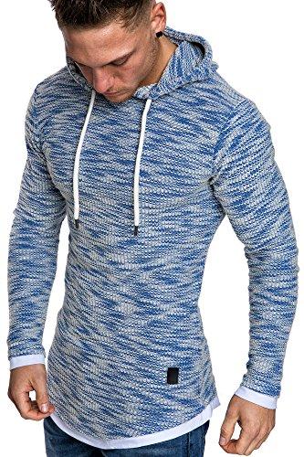 Amaci&Sons Herren 2in1 Kapuzenpullover Hoodie Sweater Pullover Sweatshirt 4013 Royalblau XL