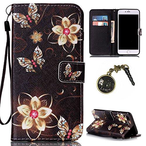 PU Silikon Schutzhülle Handyhülle Painted pc case cover hülle Handy-Fall-Haut Shell Abdeckungen für Apple iPhone 7 Plus (5.5 Zoll) +Staubstecker (5II) 5