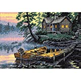 7 X5 Gold Collection Petite Morning Lake Counted Cross Stitch