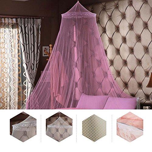 Greenbang Moskitonetze, Bett Baldachin Insekt Net Schutz Keine Hautreizungen, Ideal für Zuhause oder Reisen (Pink)