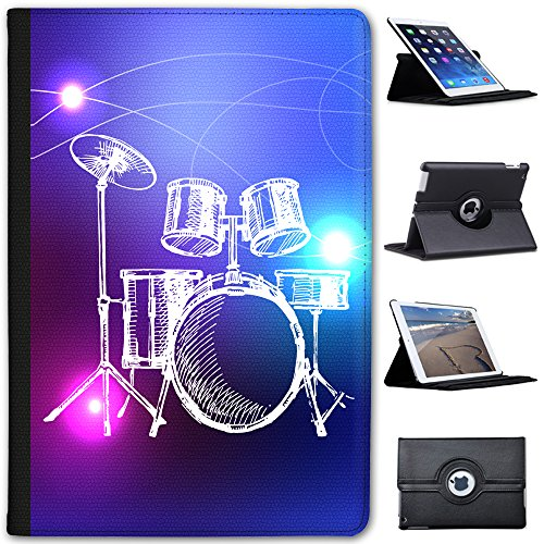 line-art-5-piece-drum-kit-with-cymbals-faux-leather-case-cover-folio-for-the-apple-ipad-mini-ipad-mi