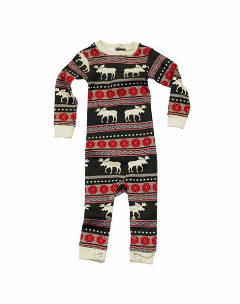 Pijamas de Navidad Familia Conjunto Pantalon y Top Fiesta Manga Larga Trajes Navideños Reno Pijama Dos Piezas Mujer… 1