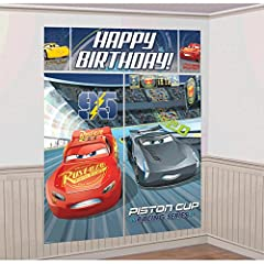 Idea Regalo - amscan 671763 Cars 3 Scene Setter Decoration Kit