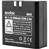 Godox VB18 Lithium Battery 11.1V 2000mAh for Godox Ving V850II V860II Series Flash Speedlite