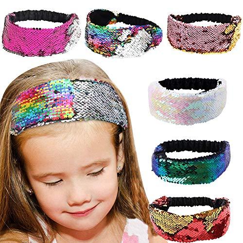 6 Stück Stirnband Elastische Mehrfarbige Stirnbänder Kopfband Damen Haarspange ()