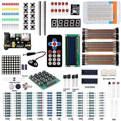 Kit básico para principiantes proyecto de aprendizaje para Arduino UNO R3, para 2560, para Raspberry Pi (incluye Tutorial)
