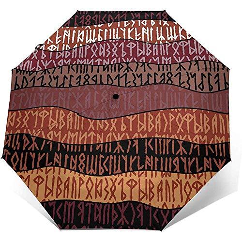 Scrittura di antichi ombrelli da viaggio antichi gotici ombrelli pieghevoli ombrello automatico ripiegabile sole per donna e uomo