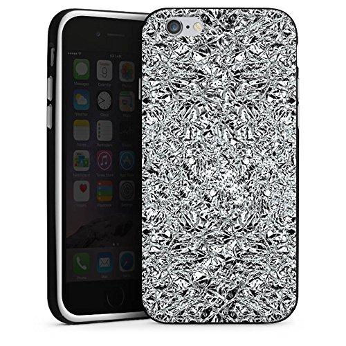 Apple iPhone 5 Housse Étui Silicone Coque Protection Paillettes Argent Brillance Housse en silicone noir / blanc