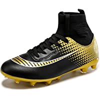 DoGeek Football Boots Junior Adults Soccer FG Football Trainers, Choose One Size Bigger