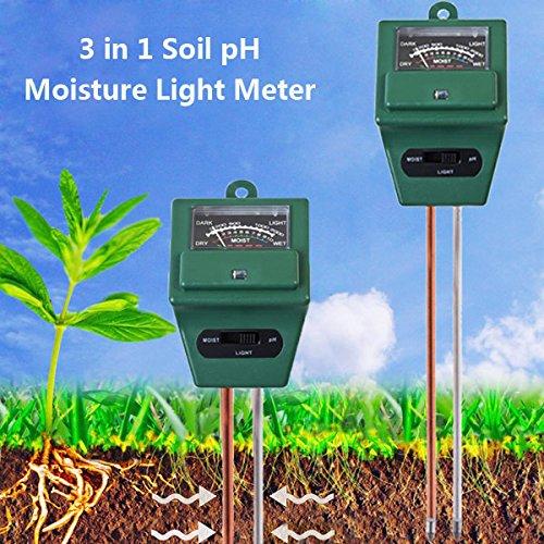 Dusche Tester (Bluelover 3 In 1 Garten Analyse Tester Hygrometer Säure Ph Licht Bodentest)