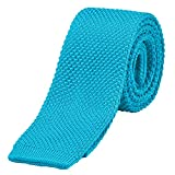 DonDon Men's Knit knitted Tie slim - turquoise