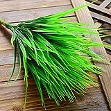 7-fork grün Gras Künstliche Pflanzen Kompatibel für Kunststoff Blumen Haushalt Store Schreibtisch Rustikal Clover Pflanze