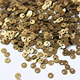 #5: Sequins for craft, Embroidery, Jewellery making art and DIY Kit, 4MM, Khaki Color,Round Shape Pearl Finish Top Hole (50 Gram)