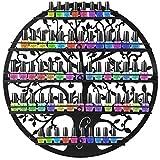 COSTWAY Nagellackregal Wandregal, Nagellackständer Metall, Regal Aufbewahrung Ständer Organizer Ablagen für Nagellack 5 Ebenen, Nagellackdisplay φ60cm rund (Schwarz)