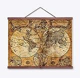 PvxgIo Hauptdekor-Retro Stoff-Plakat-alte Weltkugel-Seekarten-Geschenke