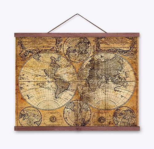 kingken Vintage Tuch Poster Globe Old World Nautical Map Geschenke für Home Dekoration