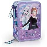 Frozen 56524 - Estuche triple relleno, 44 accesorios escolares, 20 centímetros