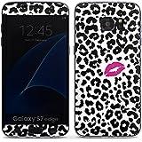 Samsung Galaxy S7 Edge Case Skin Sticker aus Vinyl-Folie Aufkleber Kuss Leo Muster