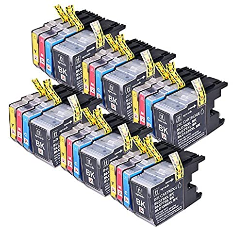 24PerfectPrint Kompatible Tintenpatrone ersetzen 1280Für Brother DCP J525W J725DW J725DW 925DW MFC J430W J625DW J6510DW 9035D MFC 6710DW 825DW (24 Kompatible Tintenpatrone Schwarz)