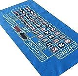 Panno per roulette in feltro blu,95x 60 cm