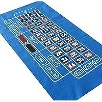 Tapete azul de fieltro para jugar a la ruleta, 95cm x 60 cm