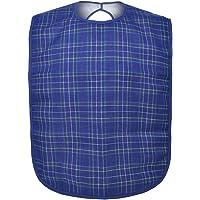GOGO Lätzchen für Erwachsene, wasserdicht, für Senioren, maschinenwaschbar, Blau