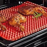 bonytain Antihaftbeschichtetes Silikon Fett reduziert Matte BBQ Mikrowelle Ofen Backblech Kochen Pad Home Küche