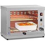 Royal Catering Salamandre Toaster Electrique Grill Cuisine RCET 360 (3.250W, 27,5 x 50 x 38,5 cm, 3 Élément chauffant à Quart