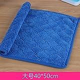 QWERWHH Asciugamano pulito cucina salviette, assorbimento di acqua per il lavaggio di stoviglie Ristorante panno panno pulito 40*50cm,rombo blu