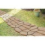 GHZ Matra, Do It Yourself, Set di piastrelle effetto pietra naturale per esterni, colore: Nero