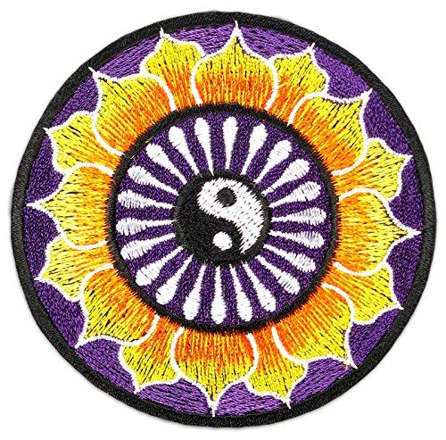 Yin Yang Chakra Aufnäher Aufbügler Patch Yoga Budhha Hippie Goa Kampfsport Aum