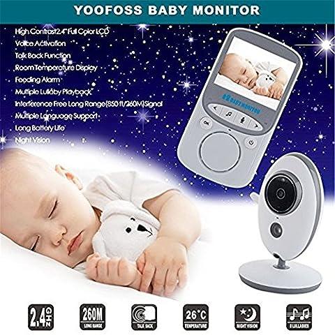 UmiTrend Baby Monitor Baby Phone Babyphone mit Nachtsicht, Digitalkamera, 24-Stunden Standby, 2,4-Zoll-Großbildschirm, Temperaturüberwachung & Lullabies