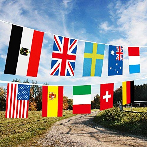2018 Russland International Flags Fußballspiel 2018 Fußball Top 32 String 21 * 14 cm Fahnen der Nationen Dekorationen für Fußball Nacht, Garten Banner, Bar und Garten Dekoration